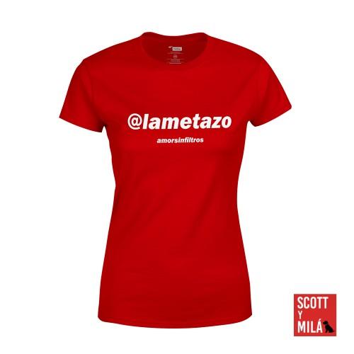 Camiseta Mujer Roja Lametazo