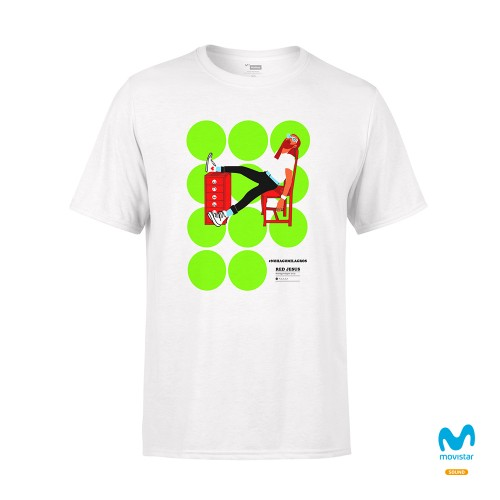 Camiseta Unisex Blanca No Hago Milagros 2