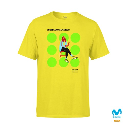 Camiseta Unisex Amarilla No Hago Milagros 1