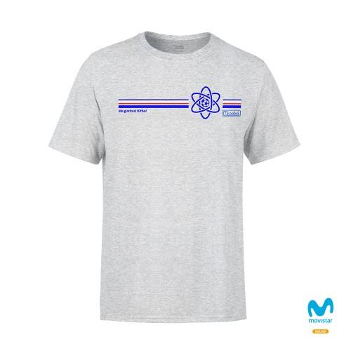 Camiseta Unisex Gris Me Gusta El Fútbol