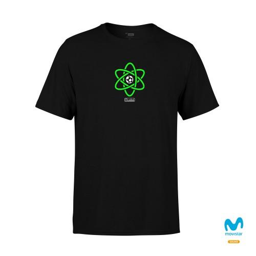 Camiseta Unisex Negra Me Gusta El Fútbol