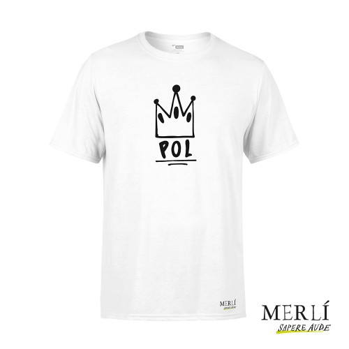 Camiseta Merlí Unisex Blanca Pol