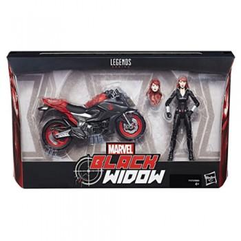 Figura De Acción Viuda Negra Con Moto 15cm