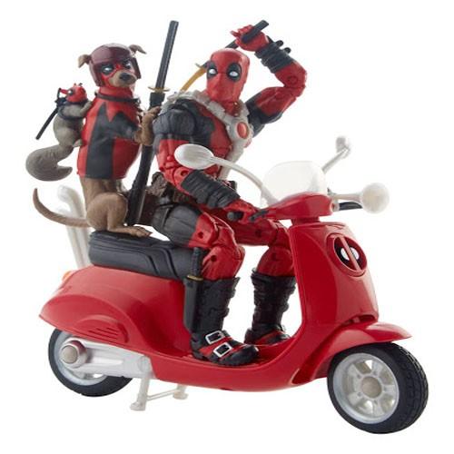 Figura De Acción Deadpool Con Scooter 15cm