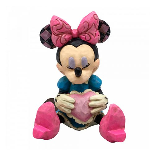 Figura Mini Minnie Con Corazon 7cm