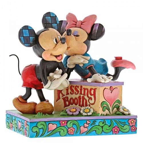 Estatua Mickey & Minnie Cabina De Besos 15cm