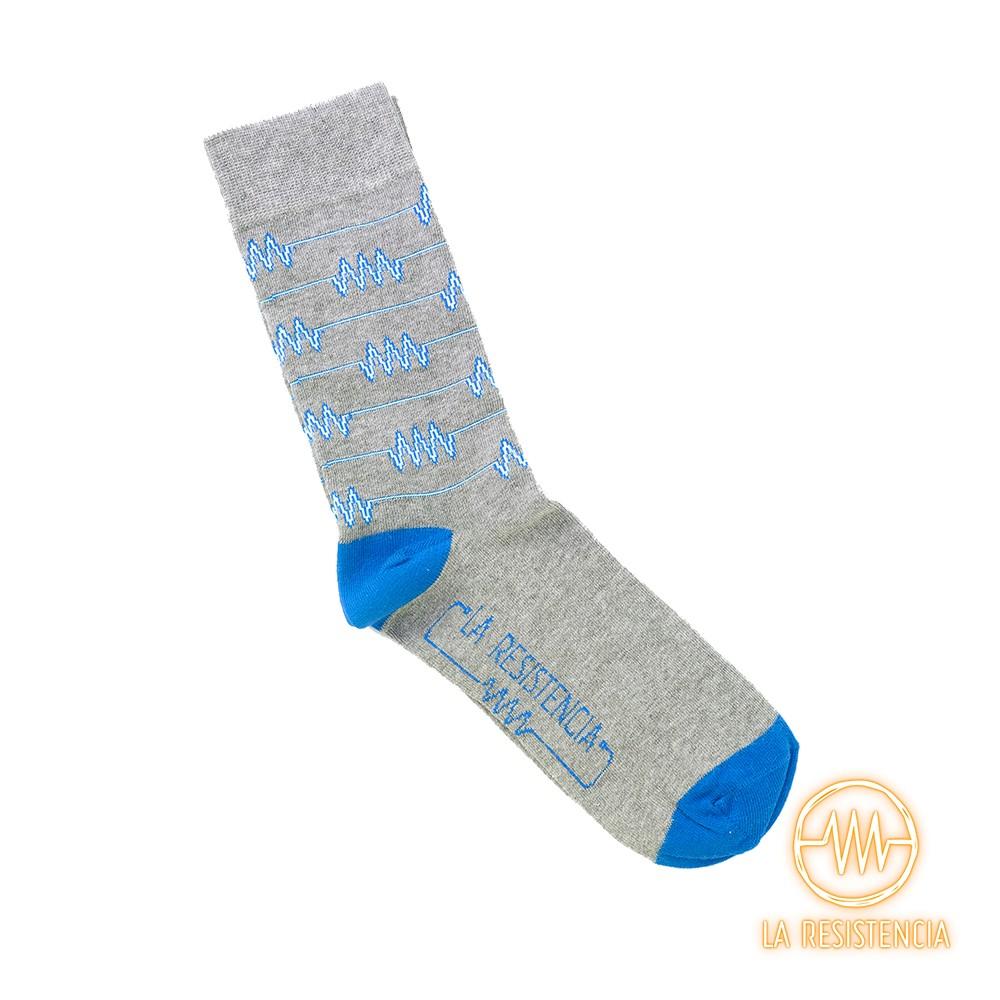 Calcetines La Resistencia Logo Azul