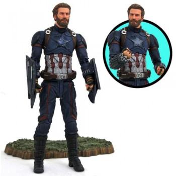 Figura De Acción Capitán América 18cm