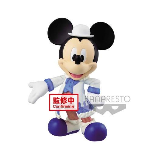 Figura Mickey Abrigo Blanco 10cm