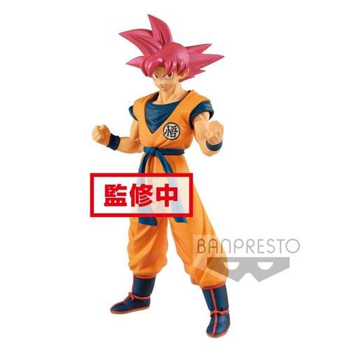 Estatua Son Goku Super Saiyan God Rose 22cm