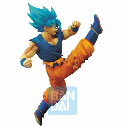 Estatua Goku Super Saiyan God Pateando 16cm
