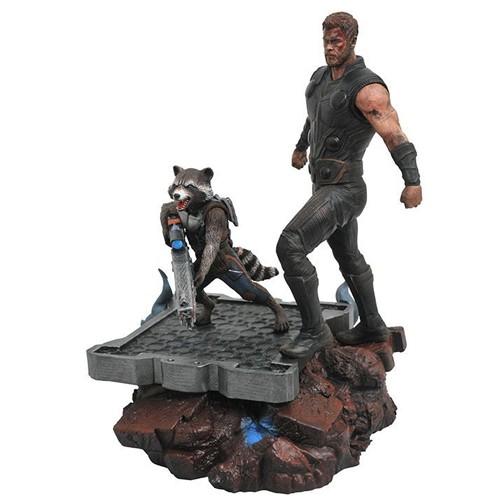 Estatua Thor & Rocket Racoon 30cm