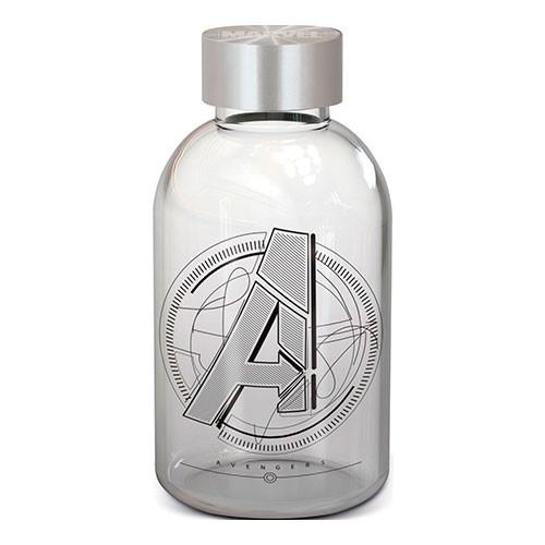Botella De Cristal Vengadores 620 Ml.