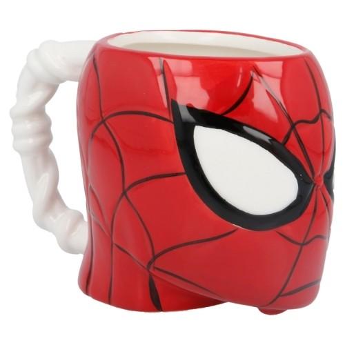 Taza Cerámica 3d Cabeza Spider-man 410 Ml