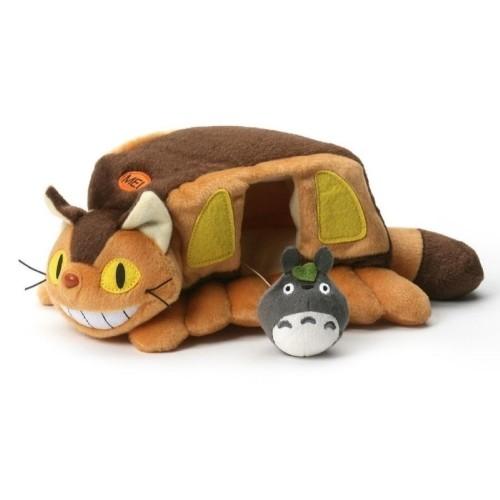 Peluche Gatobús Con Totoro 24cm