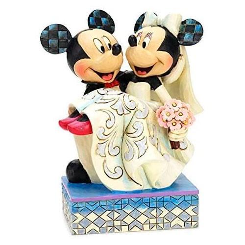 Estatua Mickey Y Minnie Felicidades Boda 16cm