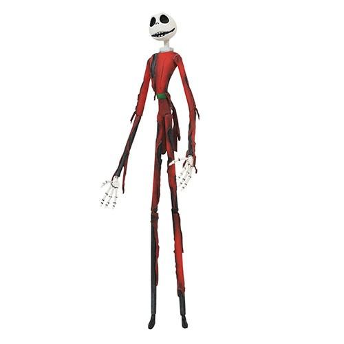 Estatua Jack Skeleton Navideño Quemado 18cm