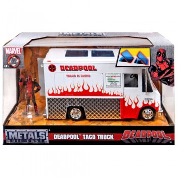 Vehiculo Taco Truck 1:24 Con Figura Deadpool 7cm