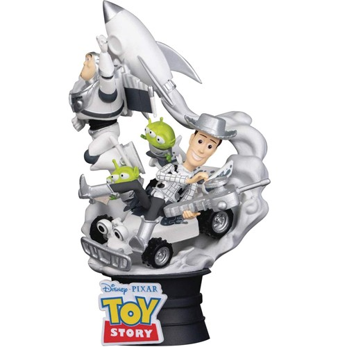Estatua Woody,buzz, Aliens & Coche Rc Diorama 15cm
