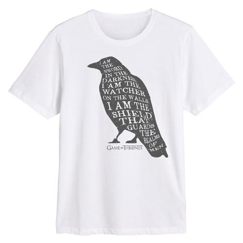 Camiseta Cuervo Texto Blanco