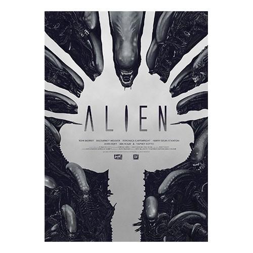 Lámina Ilustrada Alien Numero 2 35x27 Cm