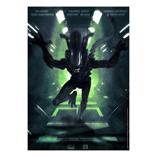 Lámina Ilustrada Alien Numero 3 35x27 Cm