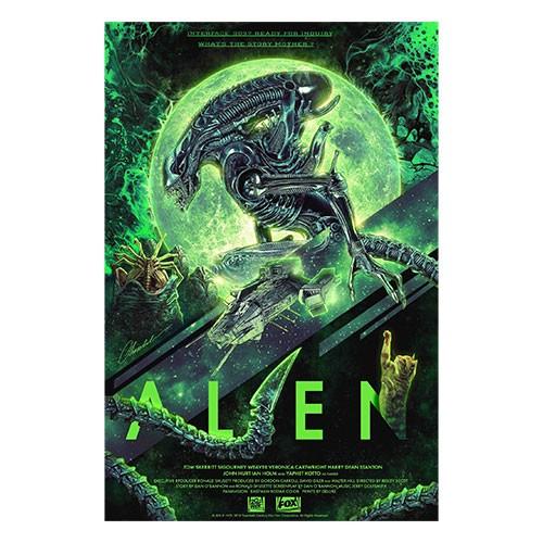 Lámina Ilustrada Alien Numero 4 41x29 Cm
