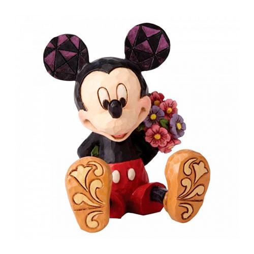 Figura Mini Mickey Con Flores 7cm