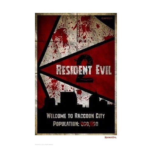 Lámina Ilustrada Resident Evil 41x29 Cm