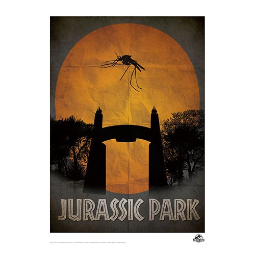 Lam Ilustrada Parque Jurasico Num 1 41 X29 Cm