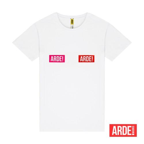 Camiseta Arde Madrid Logos En Dos Colores