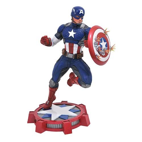 Estatua Capitán América Con Escudo 23cm
