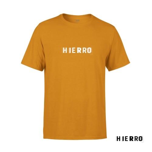 Camiseta Unisex Hierro Mostaza Talla