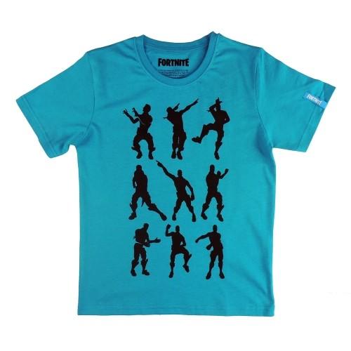 Camiseta Niño Silueta Negra Floos Azul