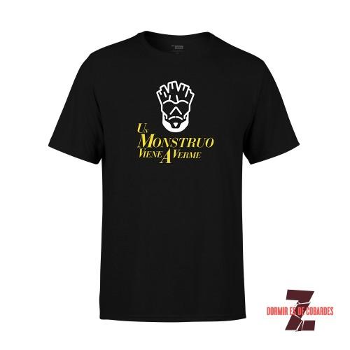 Camiseta Unisex Un Monstruo Viene A Verme Negra