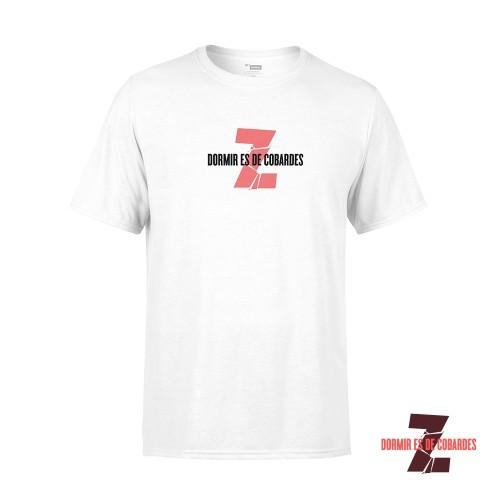 Camiseta Unisex Dormir Es De Cobardes Blanca