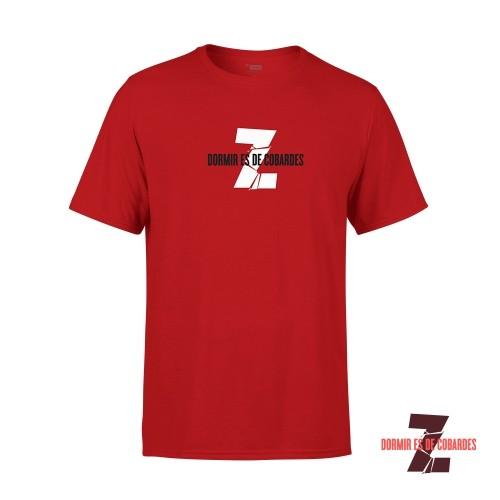 Camiseta Unisex Dormir Es De Cobardes Roja