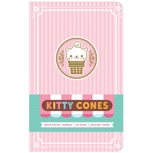 Cuaderno Tapa Dura Kitty Cones 13 X 21 Cm