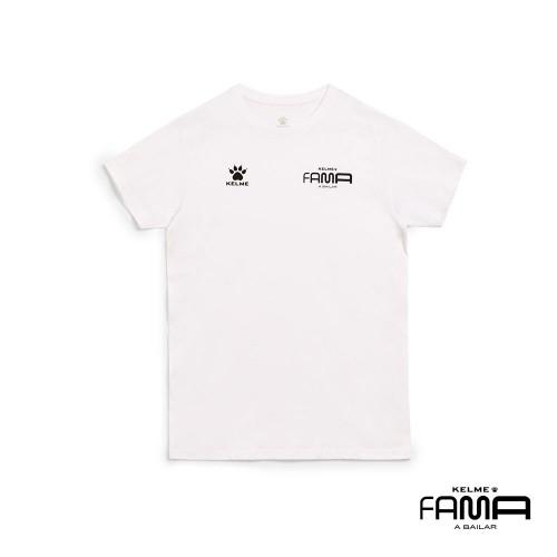 Camiseta De Manga Corta Blanco De Fama Mujer