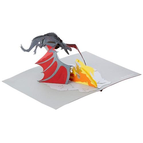 Tarjeta 3d Pop-up Drogon 18cm