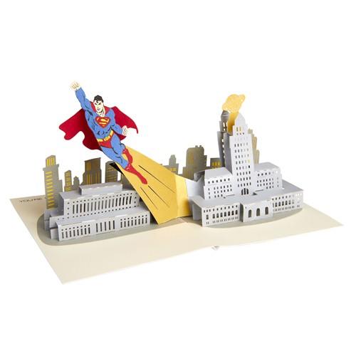 Tarjeta 3d Pop-up Superman 18cm
