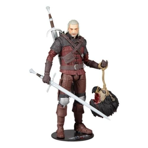 Figura De Acción Geralt Armadura Lobo 18cm